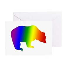 Rainbow Gay Pride Bear Greeting Cards (Package of