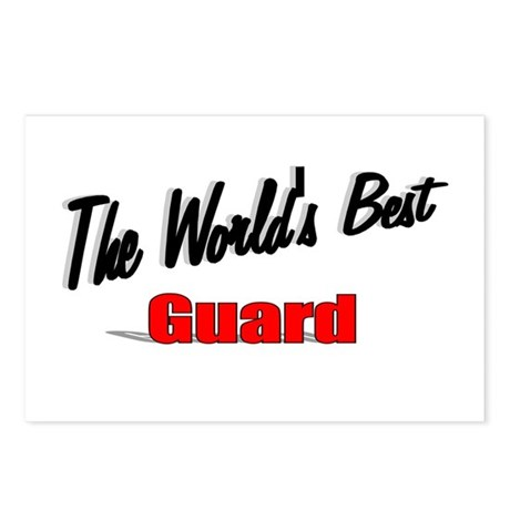 """The World's Best Guard"" Postcards (Package of 8)"