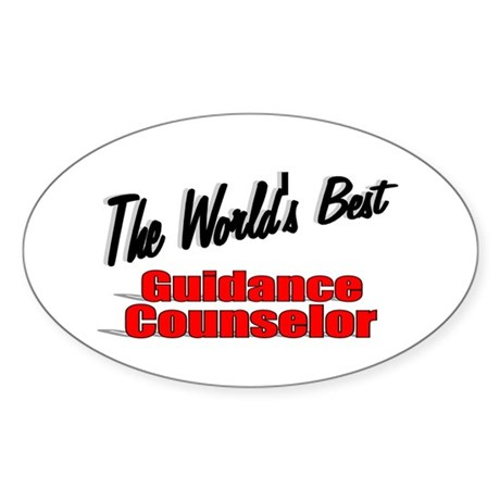 """ The World's Best Guidance Counselor"" Sticker (Ov"