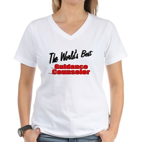 """ The World's Best Guidance Counselor"" Women's V-N"