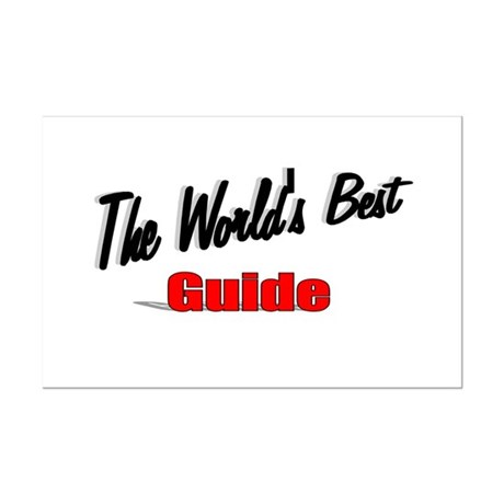 """The World's Best Guide"" Mini Poster Print"