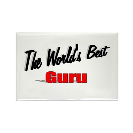 &quot;The World's Best Guru&quot; Rectangle Magnet (100 pack