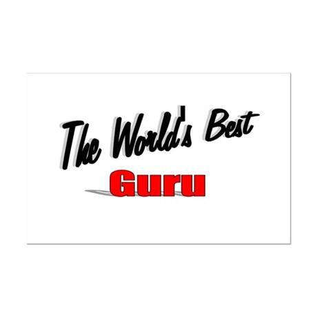 &quot;The World's Best Guru&quot; Mini Poster Print