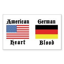 American German Rectangle Decal