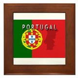 Portugal Flag Extra Framed Tile