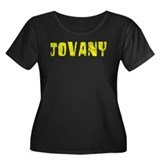 Jovany Faded (Gold) Women's Plus Size Scoop Neck D