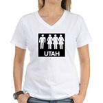 Utah Polygamy Women's V-Neck T-Shirt