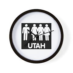 Utah Polygamy Wall Clock