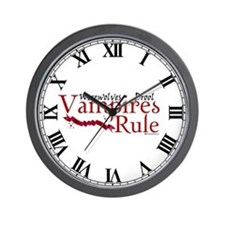 Vampires Rule Wall Clock