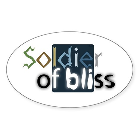 Soldier of Bliss Oval Sticker