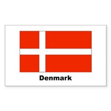 Denmark Danish Flag Rectangle Decal