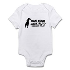 Disc Dog Jack Russell Baby Bodysuit