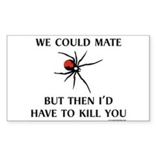 Black Widow Rectangle Sticker 50 pk)