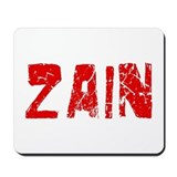 Zain Faded (Red) Mousepad