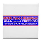 Repeal Taxes#1 Tile Coaster