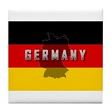 Germany Flag Extra Tile Coaster