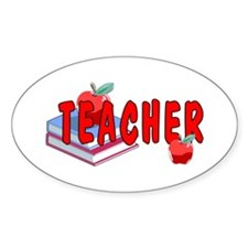 Red Apples Oval Sticker (10 pk)