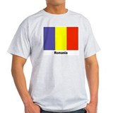 Romania Romanian Flag (Front) Ash Grey T-Shirt