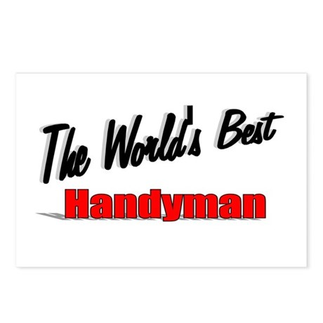 """ The World's Best Handyman"" Postcards (Package of"
