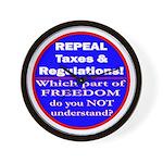 Repeal Taxes #3c Wall Clock