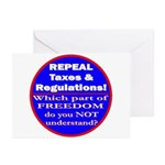 Repeal Taxes #3c Greeting Cards (Pk of 20)