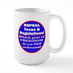Repeal Taxes #3c Large Mug