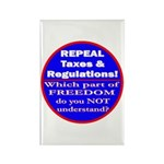 Repeal Taxes #3c Rectangle Magnet (10 pack)
