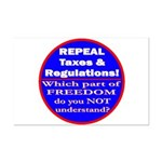 Repeal Taxes #3c Mini Poster Print