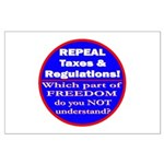 Repeal Taxes #3c Large Poster