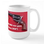 Free Men Own Guns Large Mug