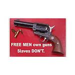 Free Men Own Guns Rectangle Magnet (10 pack)