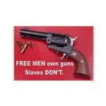 Free Men Own Guns Rectangle Magnet