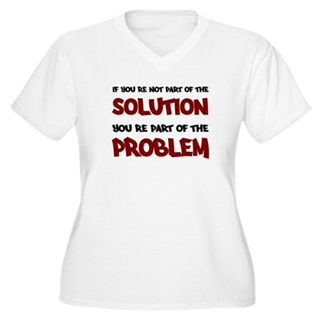 Part of the Solution Women's Plus Size V-Neck T-Sh