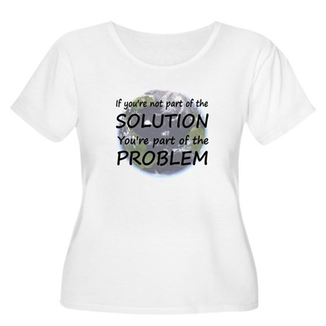 Part of the Solution Women's Plus Size Scoop Neck