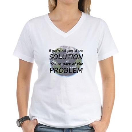 Part of the Solution Women's V-Neck T-Shirt