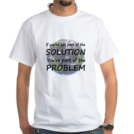 Part of the Solution White T-Shirt