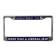 Unique Jesus was a liberal License Plate Frame