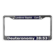 Funny Deuteronomy License Plate Frame