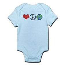 Love Peace Earth Onesie