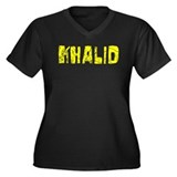 Khalid Faded (Gold) Women's Plus Size V-Neck Dark