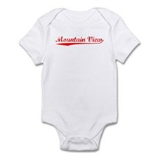Vintage Mountain V.. (Red) Infant Bodysuit