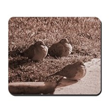 3 Mourning Doves Sepia Mousepad