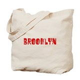 Brooklyn Faded (Red) Tote Bag