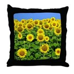 Sunflower Cluster Throw Pillow