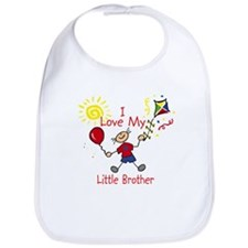Love Little Brother Boy Bib