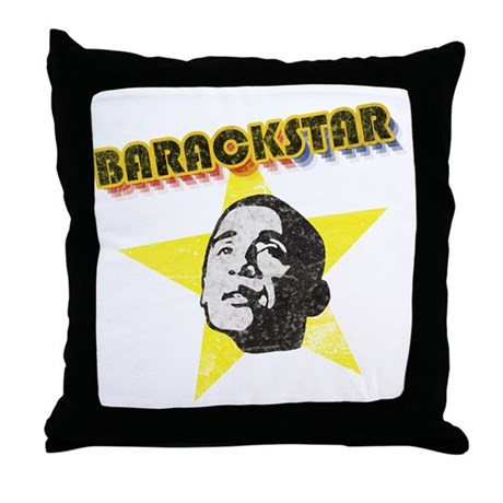 BarackStar Throw Pillow