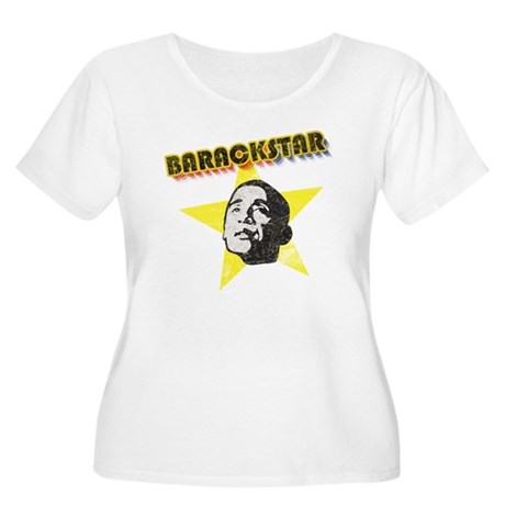 BarackStar Women's Plus Size Scoop Neck T-Shirt