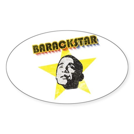BarackStar Oval Sticker