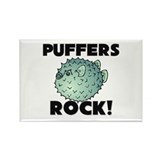 Puffers Rock! Rectangle Magnet (10 pack)
