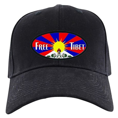 Free Tibet - Human Rights Black Cap
